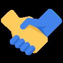 アイコン「仕事提携、握手」