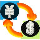 アイコン「円からドルへ、$から円に」